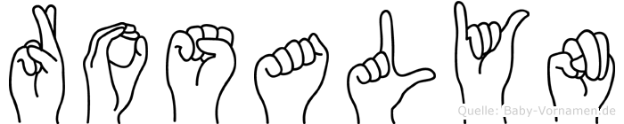 Rosalyn in Fingersprache für Gehörlose
