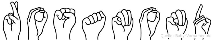 Rosamond in Fingersprache für Gehörlose