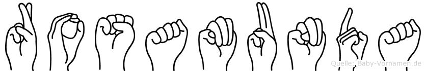 Rosamunda in Fingersprache für Gehörlose