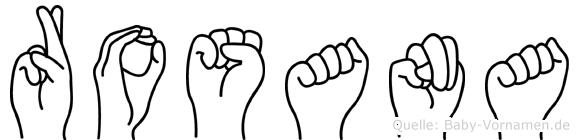 Rosana in Fingersprache für Gehörlose