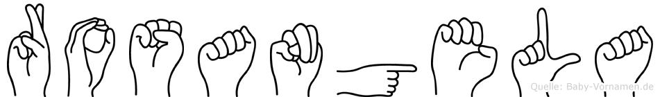 Rosangela im Fingeralphabet der Deutschen Gebärdensprache
