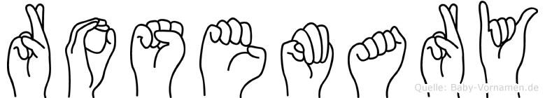 Rosemary in Fingersprache für Gehörlose