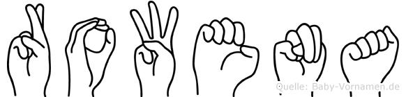 Rowena in Fingersprache für Gehörlose