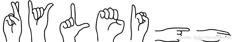 Ryleigh im Fingeralphabet der Deutschen Gebärdensprache