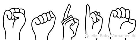 Sadie in Fingersprache für Gehörlose