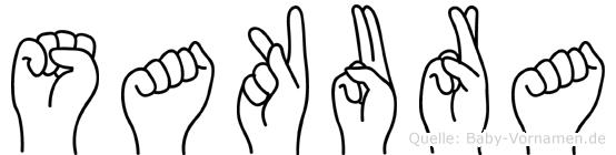 Sakura im Fingeralphabet der Deutschen Gebärdensprache