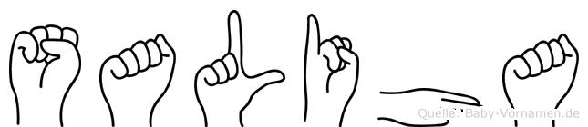 Saliha im Fingeralphabet der Deutschen Gebärdensprache