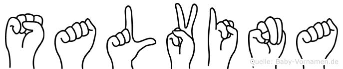 Salvina im Fingeralphabet der Deutschen Gebärdensprache