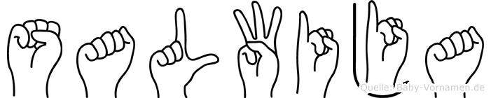 Salwija in Fingersprache für Gehörlose