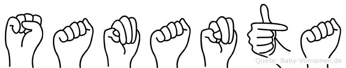 Samanta in Fingersprache für Gehörlose