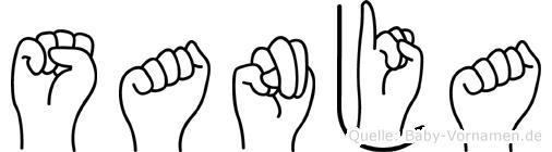 Sanja im Fingeralphabet der Deutschen Gebärdensprache