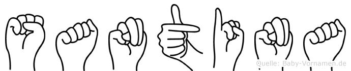 Santina in Fingersprache für Gehörlose