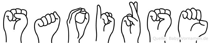 Saoirse in Fingersprache für Gehörlose