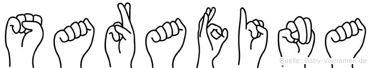 Sarafina im Fingeralphabet der Deutschen Gebärdensprache