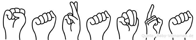 Saranda in Fingersprache für Gehörlose