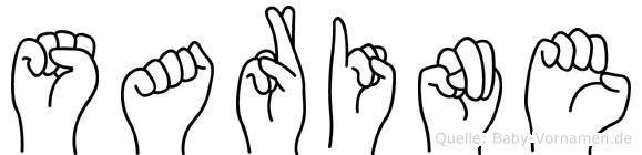 Sarine in Fingersprache für Gehörlose
