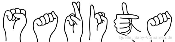 Sarita im Fingeralphabet der Deutschen Gebärdensprache