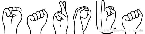 Saroja in Fingersprache für Gehörlose