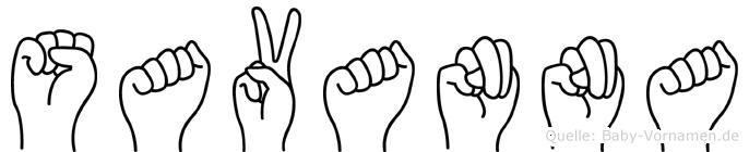 Savanna im Fingeralphabet der Deutschen Gebärdensprache