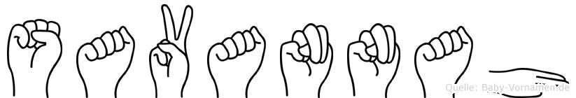 Savannah in Fingersprache für Gehörlose