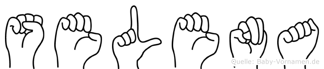 Selena im Fingeralphabet der Deutschen Gebärdensprache