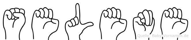 Selene in Fingersprache für Gehörlose