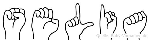 Selia im Fingeralphabet der Deutschen Gebärdensprache