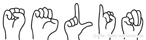 Selin im Fingeralphabet der Deutschen Gebärdensprache