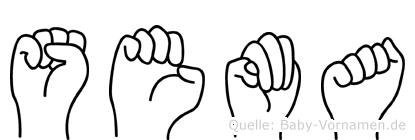 Sema in Fingersprache für Gehörlose