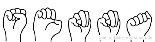 Senna im Fingeralphabet der Deutschen Gebärdensprache