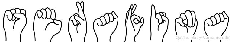 Serafina im Fingeralphabet der Deutschen Gebärdensprache