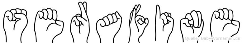 Serafine im Fingeralphabet der Deutschen Gebärdensprache