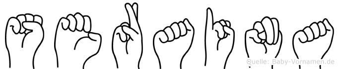 Seraina im Fingeralphabet der Deutschen Gebärdensprache
