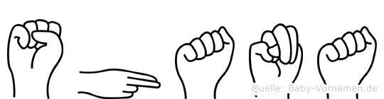 Shana in Fingersprache für Gehörlose