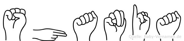 Shania in Fingersprache für Gehörlose