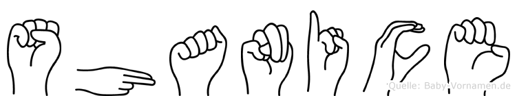 Shanice in Fingersprache für Gehörlose