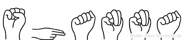 Shanna in Fingersprache für Gehörlose