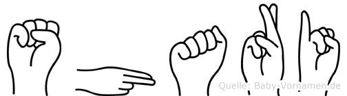 Shari in Fingersprache für Gehörlose