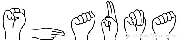 Shauna in Fingersprache für Gehörlose