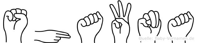 Shawna in Fingersprache für Gehörlose