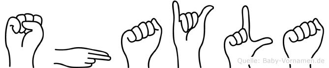 Shayla in Fingersprache für Gehörlose