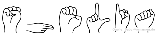 Shelia im Fingeralphabet der Deutschen Gebärdensprache