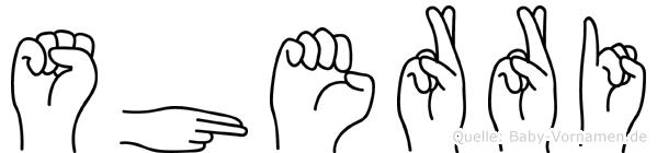 Sherri im Fingeralphabet der Deutschen Gebärdensprache