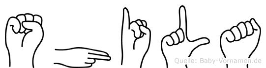 Shila in Fingersprache für Gehörlose