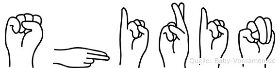 Shirin im Fingeralphabet der Deutschen Gebärdensprache