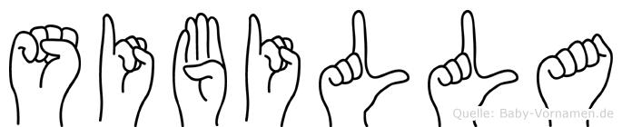 Sibilla in Fingersprache für Gehörlose