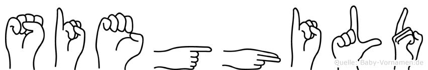 Sieghild im Fingeralphabet der Deutschen Gebärdensprache