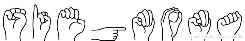 Siegmona im Fingeralphabet der Deutschen Gebärdensprache