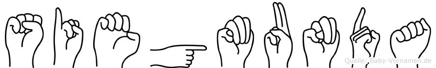 Siegmunda in Fingersprache für Gehörlose