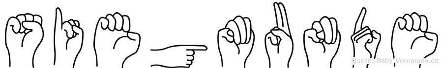 Siegmunde im Fingeralphabet der Deutschen Gebärdensprache